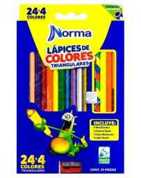 Colores Norma Plus Triangular 24+4