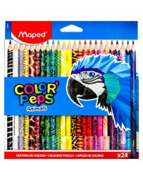 Colores Color Peps Animals Maped c/24